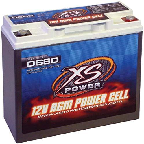 XS Power D680 AGM Audio Series 1000 Max Amp 320 Cranking 12V Battery...
