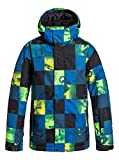 Quiksilver Big Boys' Mission Printed Youth Jacket, Check Kasper Snow Blue, Large/14
