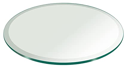 Exceptionnel 36u0026quot; Inch Round Glass Table Top 3/8u0026quot; Thick Tempered Beveled Edge By