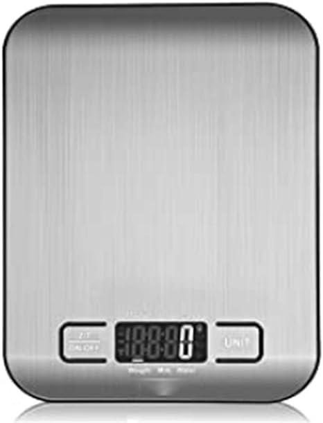 Opinión sobre Báscula de Cocina Digital Acero Inoxidable, Resistente al Agua, Pantalla LCD, Capacidad Máxima 5 Kg