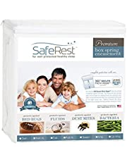 """Queen Size SafeRest Certified Bed Bug Proof Zippered Box Spring Encasement - Bed Bug Fluid and Dust Mite Protection 9"""""""