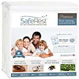 SafeRest Premium Box Spring Encasement - Lab Tested Bed Bug Proof, Dust Mite Proof and Waterproof - Breathable, Noiseless and Vinyl Free - Queen Size