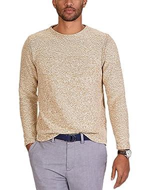 Men's Chunky-Knit Boat Sweater, Britkhaki, L