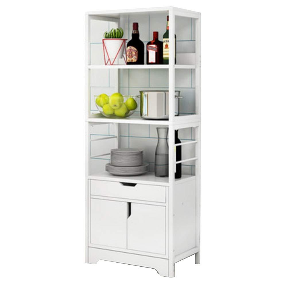 NAN Liang Mikrowelle Regal, Küche fahrbare Lagerwagen, Küchenschrank, multifunktionale Standregal, 60  36  149,8 cm Nicht rosten (Farbe   Weiß)