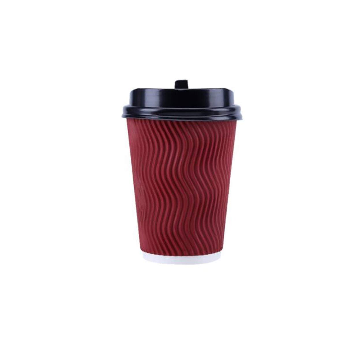 Xionghaizi Disposable Thickened Coffee Cup, 12 Oz 340ml, 16 Packs/Pack, 16 Oz 450ml, 20 Packs/Pack, Double Corrugated Cup Tea Cup, with Lid (Capacity : 450ml)