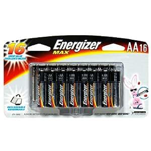 Energizer E91BP-16H Max AA Alkaline Battery (16 Pack)