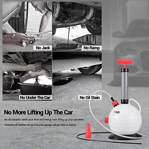 EWK 6L Manual Fluid Extractor Pump Vacuum Oil Changer Evacuator Kit by EWK (Image #5)