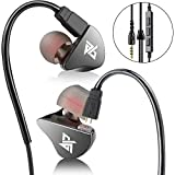 AUGLAMOUR In Ear Headphone with Mic Metal Zinc Alloy Hi-Fi Stereo Noise Cancelling Earbud with Detachable Cables 3.5mm Musicians Sports Monitor for iPhone 8, X, 7, Samsung iOS Anroid Smartphones R8 Review