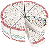 Birthday Cake Slice Treat Boxes (10PC) by Fun Express