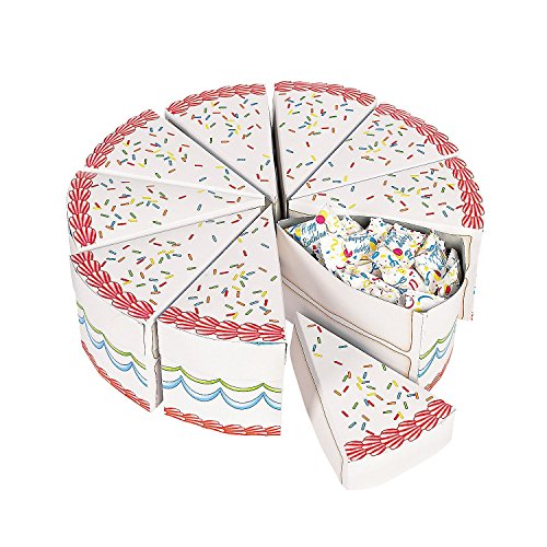 Birthday Cake Slice Treat Boxes