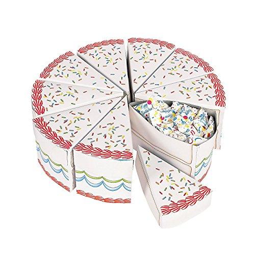 Birthday Cake Slice Treat Boxes
