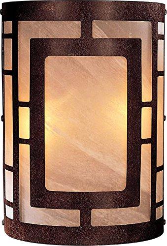 Minka Lavery Wall Sconce Lighting 346-14, Glass Damp Bath Vanity Fixture, 2 Light, 120 Watts, Nutmeg