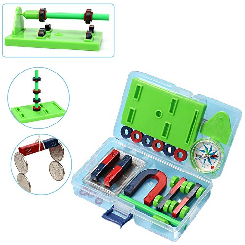 - Nice purchase School Physics Science Magnet Kit for Education Science Experiment Toy Alnico Magnetic Teaching Tool
