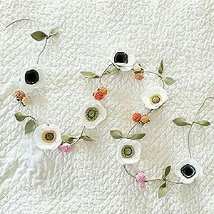 Felt Flower Anemone Garland