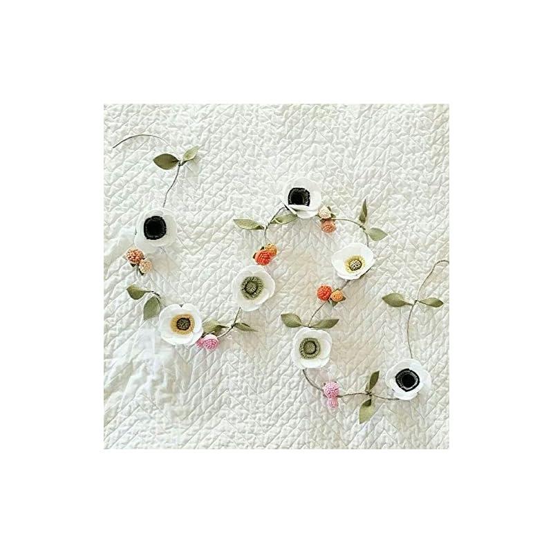 silk flower arrangements felt flower anemone garland