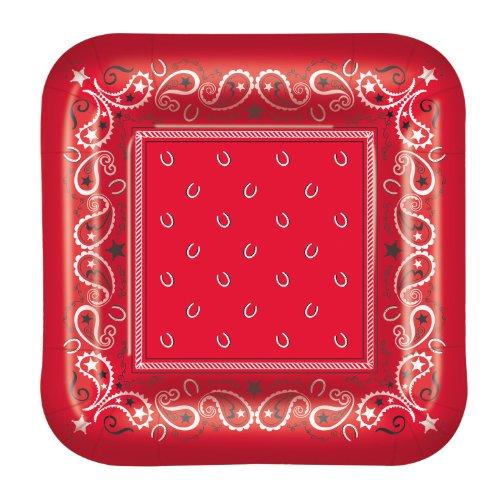 Bandana Plates (square-shaped)    (8/Pkg)
