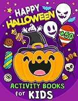 Happy Halloween Activity Books For Kids: 50+