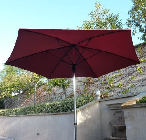 Formosa Covers 9ft Fiber Glass Ribs Market Umbrella in Brick Red