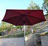 9ft Fiber Glass ribs Market umbrella in Brick Red For Sale