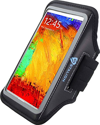 Usb 14 Blk In - Note 3 Armband : Stalion Sports Running & Exercise Gym Sportband for Samsung Galaxy Note 3, 2, Note 3 Neo (Jet Black) Water Resistant + Sweat Proof + Key Holder