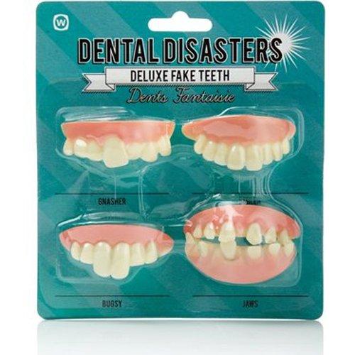 NPW Deluxe Fake Teeth (4 Piece), Dental Disasters