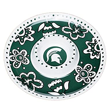 Glory Haus Michigan State Chip -FeetN Dip Platter, 14-Inch