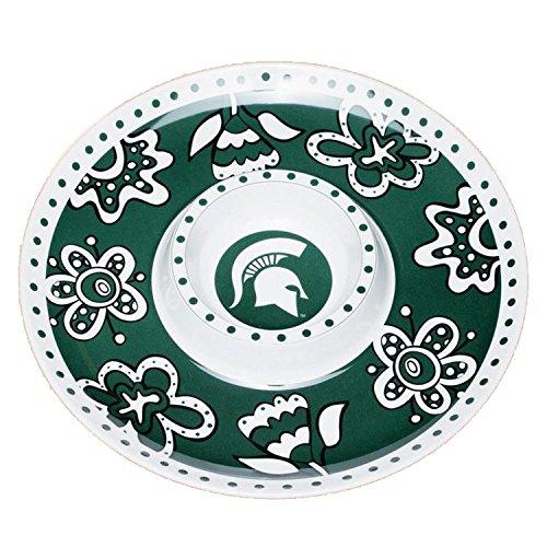 Bulldogs Melamine Chip - Glory Haus Michigan State Chip -FeetN Dip Platter, 14-Inch