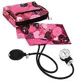 Prestige Medical Aneroid and Bag, Ribbons and Hearts Pink