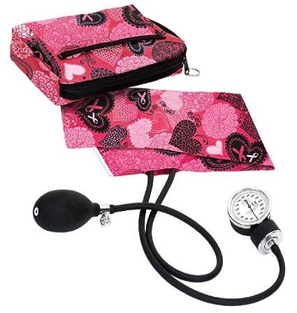 NCD Medical – Tensiómetro con estuche bolsa Arts perlas/Hearts Rosa