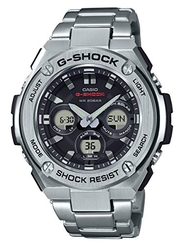 Casio G-Shock G-STEEL SLIM Mens Tough Solar Silver Watch GSTS310D-1A - 51brU ZIwvL - Casio G-Shock G-STEEL SLIM Mens Tough Solar Silver Watch GSTS310D-1A