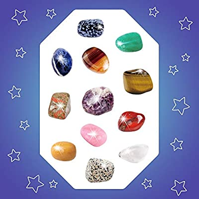 XXTOYS Gemstone Dig Kits 12 Gem Excavation Kits with 12 Real Precious Stones Mega Gems Digging Kit for Kids Mineralogy Geology Science STEM Gift: Toys & Games