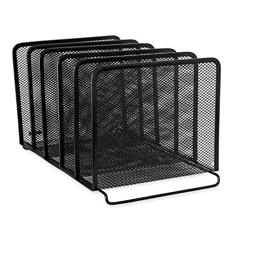 Rolodex Mesh Collection Stacking Sorter, 5-Section, Black (22141) (3, Black) by Eldon