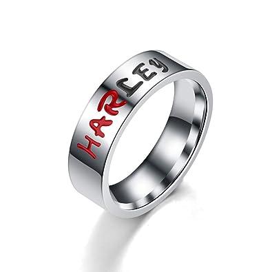 Amazon.com: BICMTE - Anillos de boda de acero inoxidable con ...