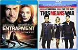 This Means War + Entrapment Blu Ray Action movie Set Combo Edition