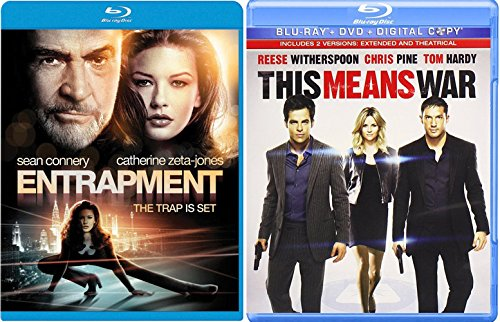 This Means War + Entrapment Blu Ray Action movie Set Combo - Shades Tom Cruise