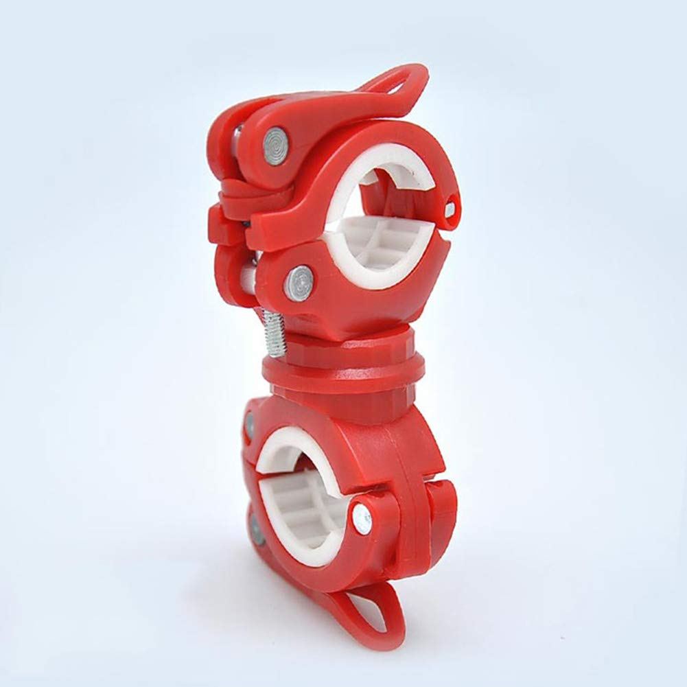 RENNICOCO Support de Lampe de Poche Support de v/élo Universel v/élo LED Lumi/ère Support de Lampe de Poche Support de Torche Rotation 360 /° v/élo Clip Pince