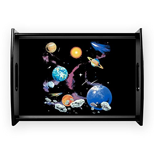 Large Serving Tray Solar System And Asteroids by Royal Lion