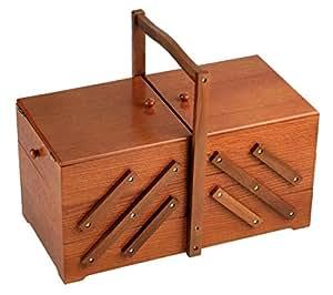 Prym 4002276125247 - Caja de costura, madera roble oscuro 612524