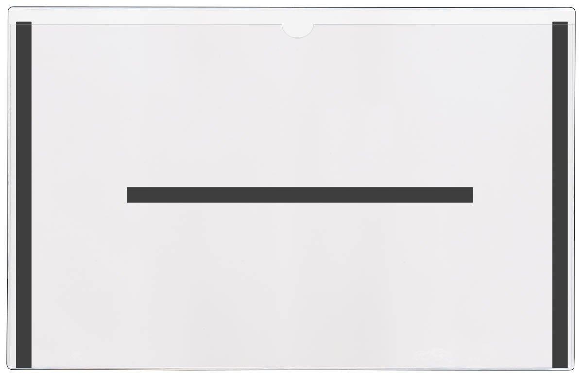 StoreSMART® - Magnetic File Jackets - 25-Pack - Clear Plastic - 11'' x 17 - FJ3512STCM-25