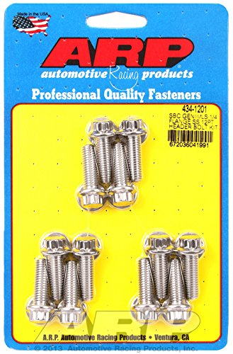 (ARP 434-1201 Stainless Steel Header Bolt Kit)