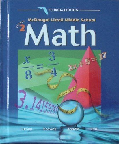 Math Course 2 Grade 7: Mcdougal Littell Middle School Math Florida