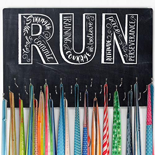 Custom Hooked on Medal Hanger (Large) | Run Inspiration (Chalk) | -