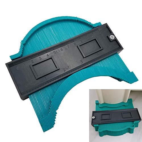 Contour Profile Gauge Tiling Laminate Tiles General Tools Duplicator Ewadoo Plastic Irregular Profile Measuring Gauge Multifunctional Woodworking tool - 1 - Thin Laminate Profile