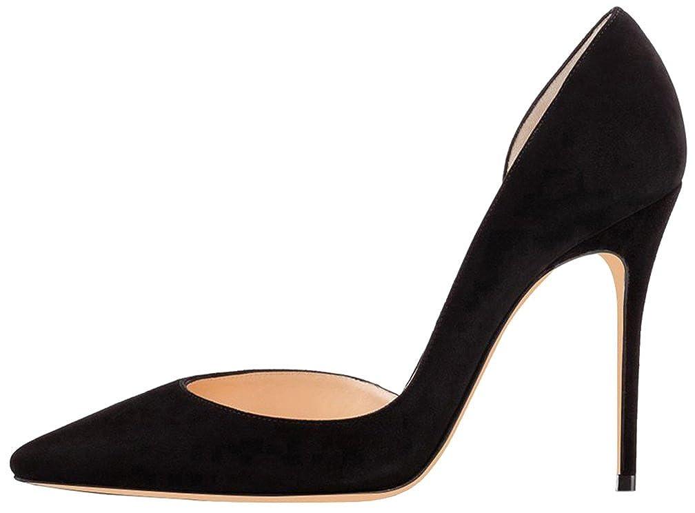 Calaier Damen Camovie 12CM Stiletto Schlüpfen Pumps Schuhe