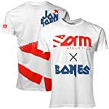 Form Athletics White Jon ''Bones'' Jones Fight Premuim T-shirt (XX-Large)