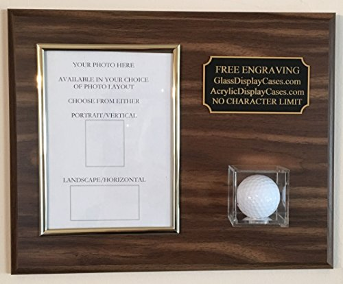 Keepsakes Under Glass Golf 4 x 6 Photo Scorecard Hole in One Wall - Display Glass Case Golf Ball