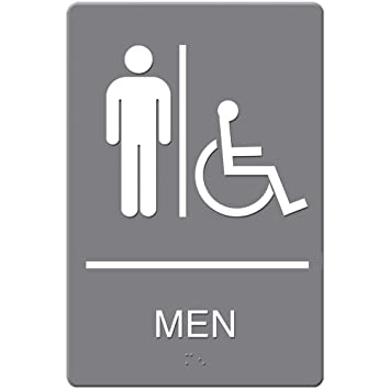 Headline Sign ADA Sign  Men Restroom Wheelchair Accessible Symbol  Molded Plastic  6 x. Amazon com   Headline Sign ADA Sign  Men Restroom Wheelchair