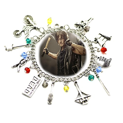 Blue Heron The Walking Dead 10 Logo Charms Toggle Clasp Bracelet w/Gift (Dc Dead Halloween)