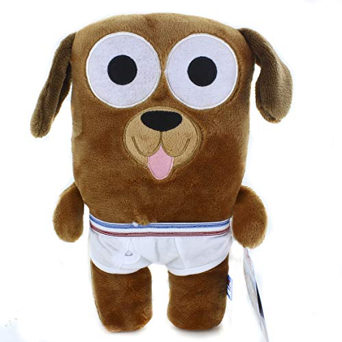 Tighty Whitey Toys Adorable Animal in Underwear 12 Inches Cuddly Plush Stuffed Toys - Party Favors - Halloween Christmas Xmas Birthday, Valentine Gifts for Kids Boys Girls (Bailey Dog) ()