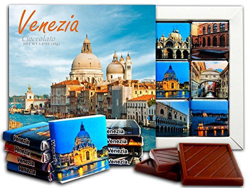 DA CHOCOLATE Candy Souvenir VENICE Chocolate Gift Set 5x5in 1 box (Cathedral) -